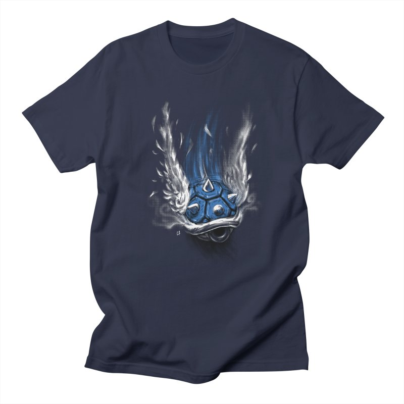 Blue Shell Attack Men's T-shirt by c0y0te7's Artist Shop