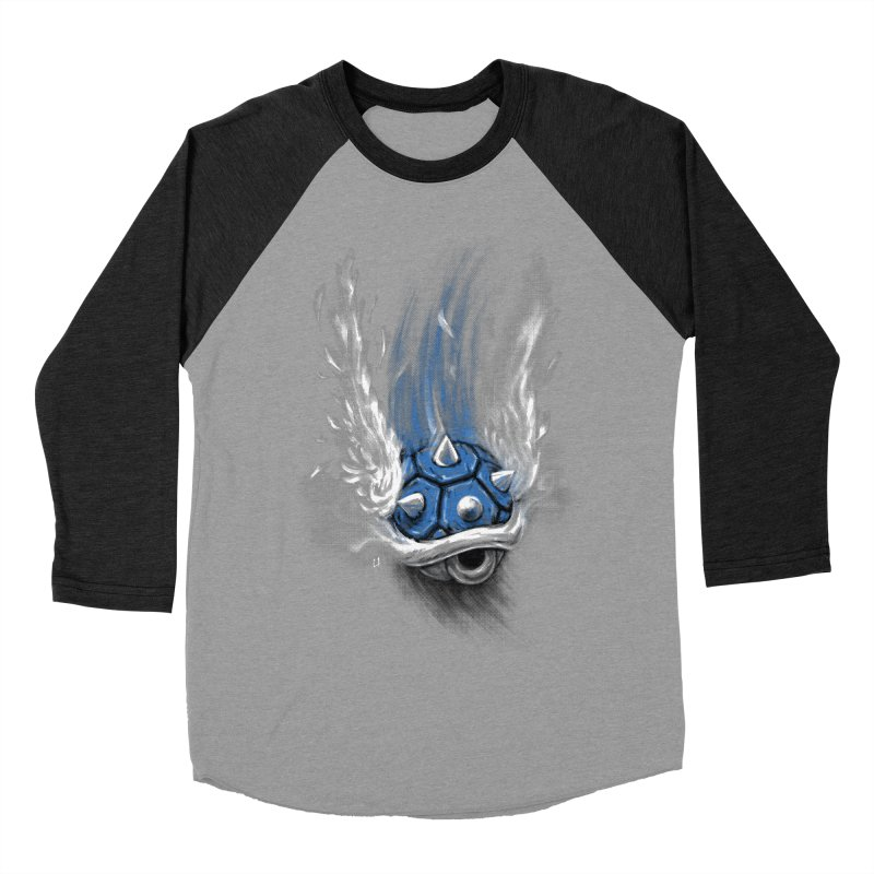 Blue Shell Attack Men's Baseball Triblend T-Shirt by c0y0te7's Artist Shop