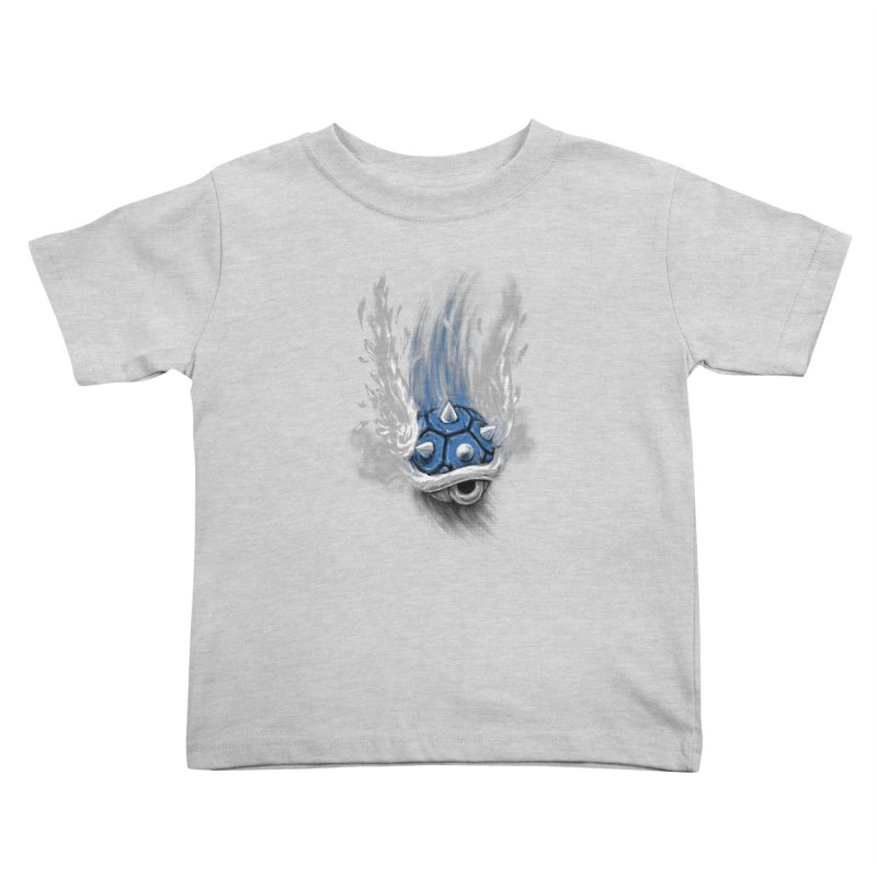 Blue Shell Attack Kids Toddler T-Shirt by c0y0te7's Artist Shop