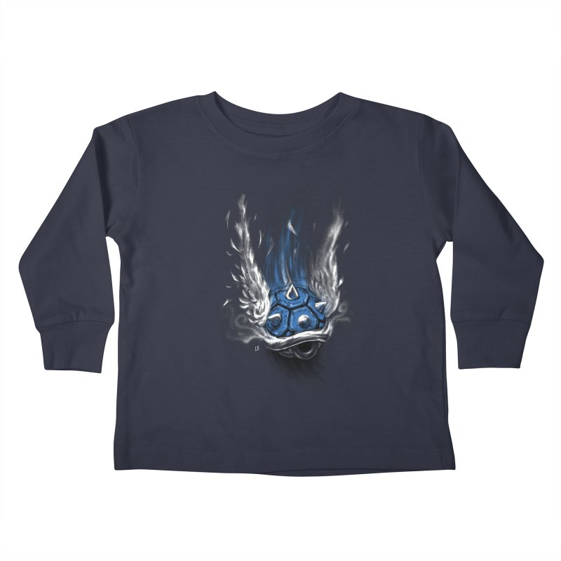 Blue Shell Attack Kids Toddler Longsleeve T-Shirt by c0y0te7's Artist Shop