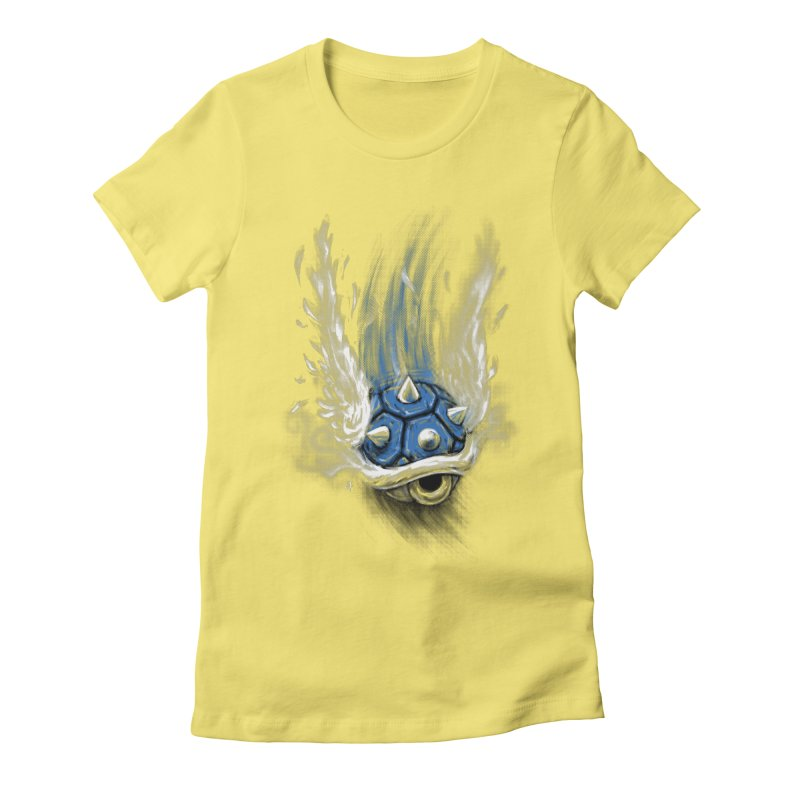 Blue Shell Attack Women's Fitted T-Shirt by c0y0te7's Artist Shop