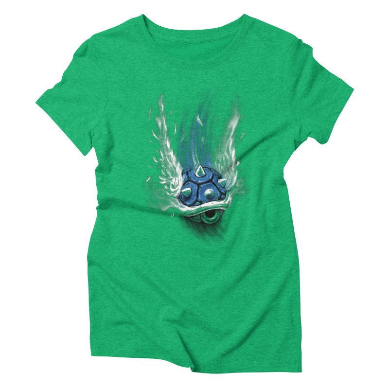 Blue Shell Attack Women's Triblend T-shirt by c0y0te7's Artist Shop