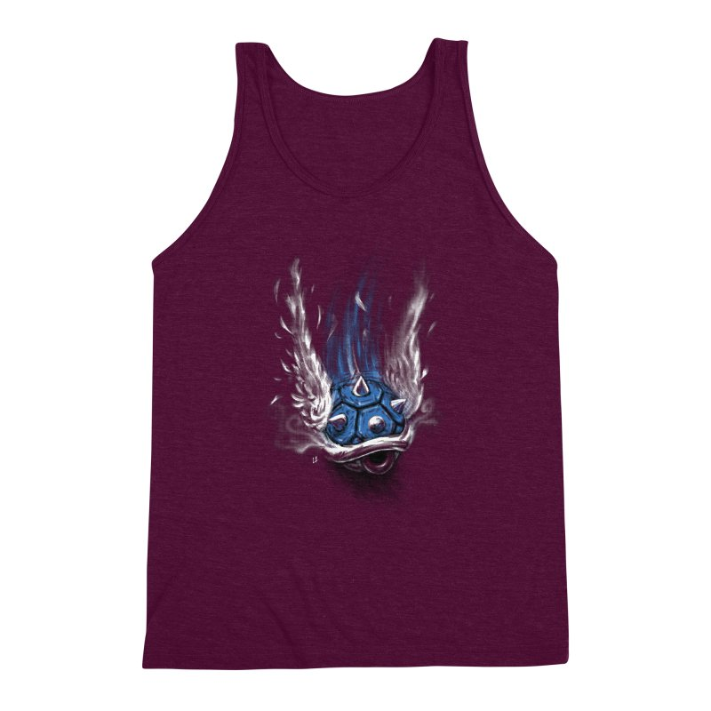 Blue Shell Attack Men's Triblend Tank by c0y0te7's Artist Shop