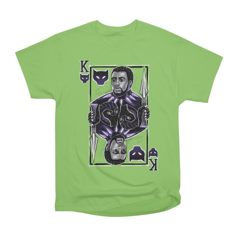 T'Challa King Card Men's Heavyweight T-Shirt by c0y0te7's Artist Shop