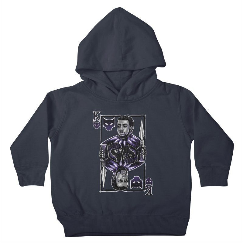 T'Challa King Card Kids Toddler Pullover Hoody by c0y0te7's Artist Shop