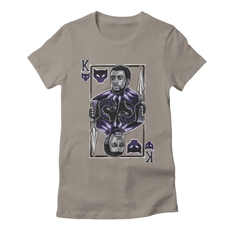 T'Challa King Card Women's Fitted T-Shirt by c0y0te7's Artist Shop