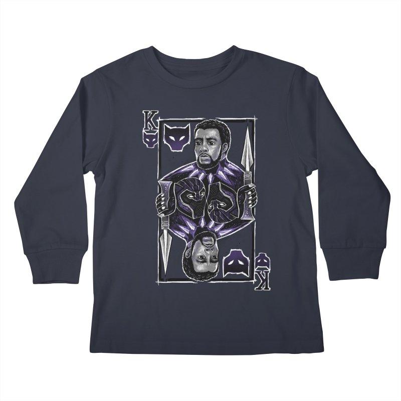 T'Challa King Card Kids Longsleeve T-Shirt by c0y0te7's Artist Shop