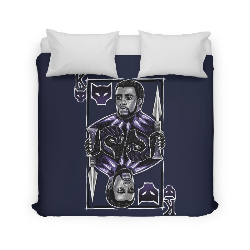 T'Challa King Card Home Duvet by c0y0te7's Artist Shop