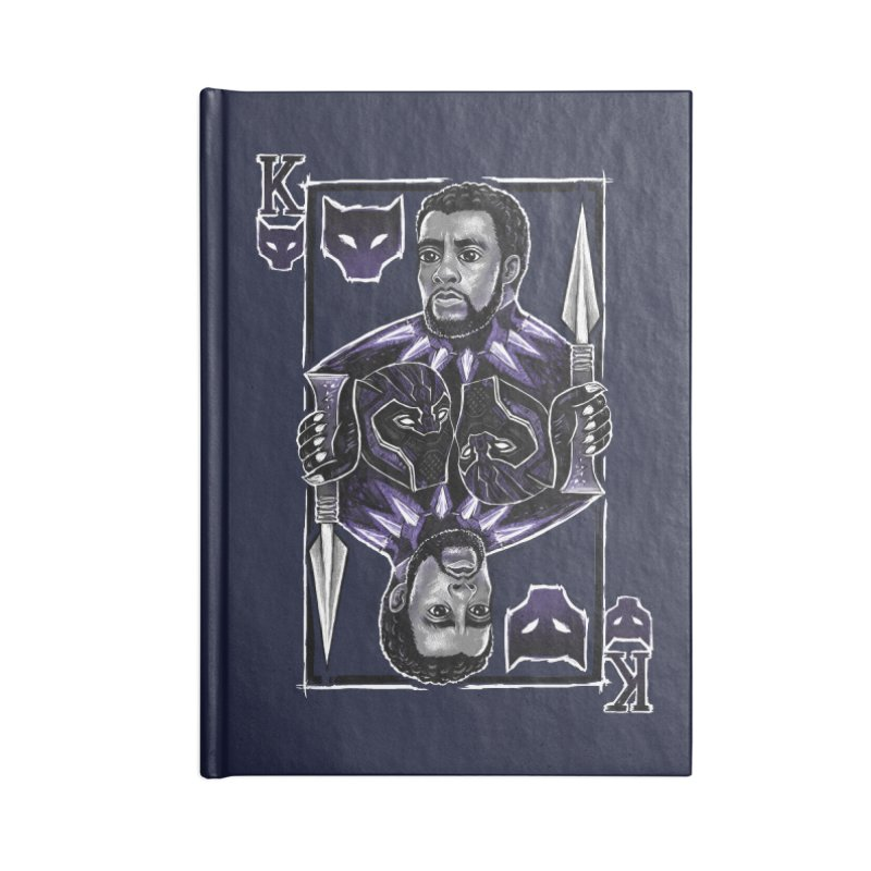 T'Challa King Card Accessories Notebook by c0y0te7's Artist Shop