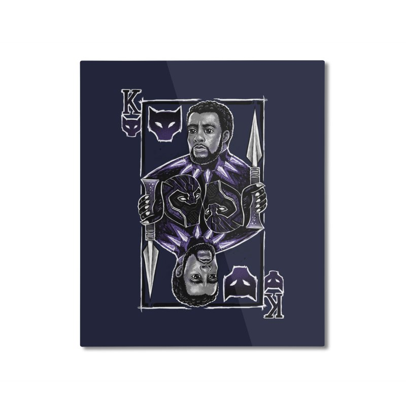 T'Challa King Card Home Mounted Aluminum Print by c0y0te7's Artist Shop
