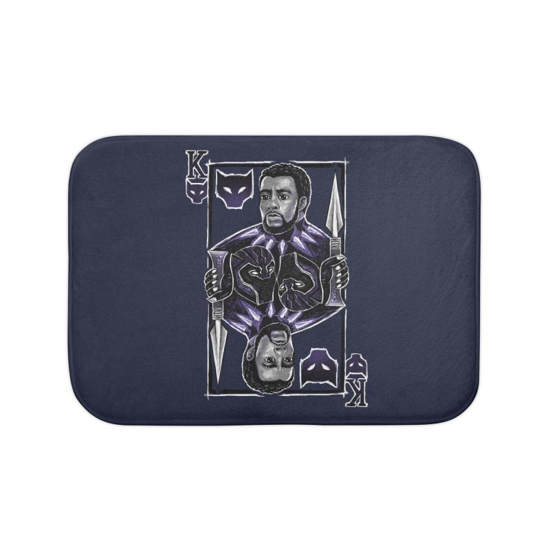 T'Challa King Card Home Bath Mat by c0y0te7's Artist Shop