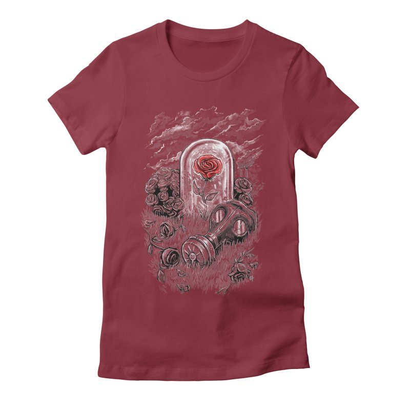 The Last Flower On Earth Women's Fitted T-Shirt by c0y0te7's Artist Shop