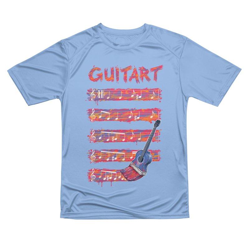 GuitArt Men's T-Shirt by c0y0te7's Artist Shop