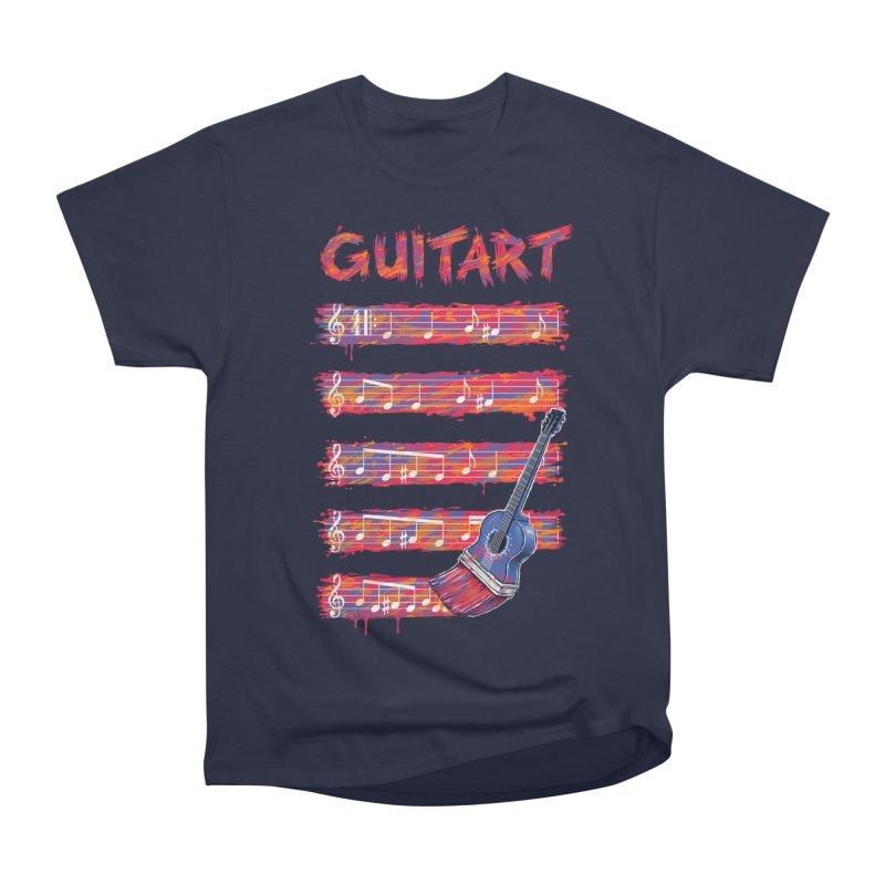 GuitArt Men's Heavyweight T-Shirt by c0y0te7's Artist Shop