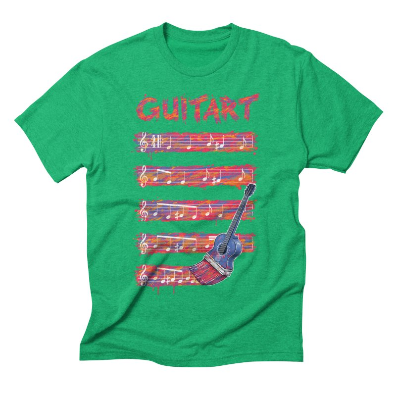 GuitArt Men's Triblend T-Shirt by c0y0te7's Artist Shop