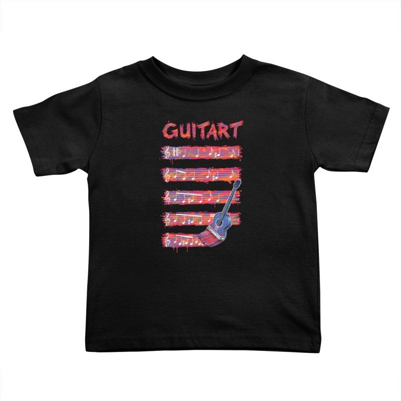 GuitArt Kids Toddler T-Shirt by c0y0te7's Artist Shop