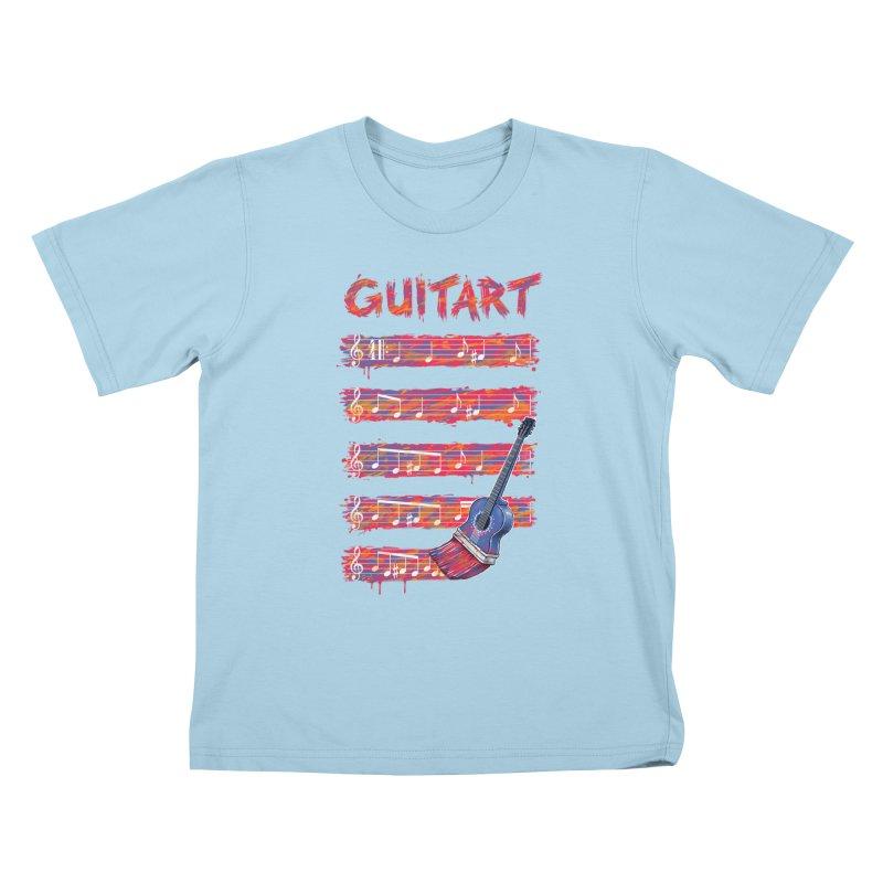 GuitArt Kids T-Shirt by c0y0te7's Artist Shop