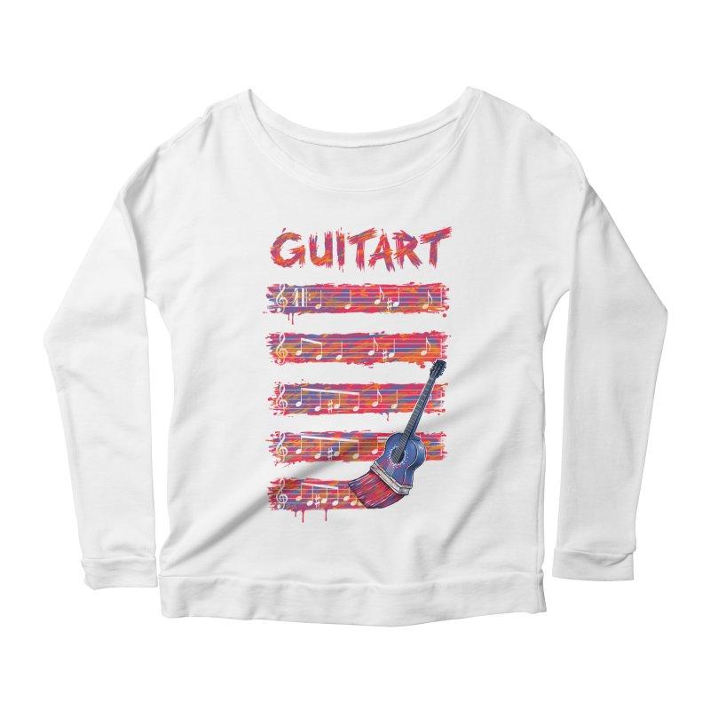 GuitArt Women's Longsleeve Scoopneck  by c0y0te7's Artist Shop