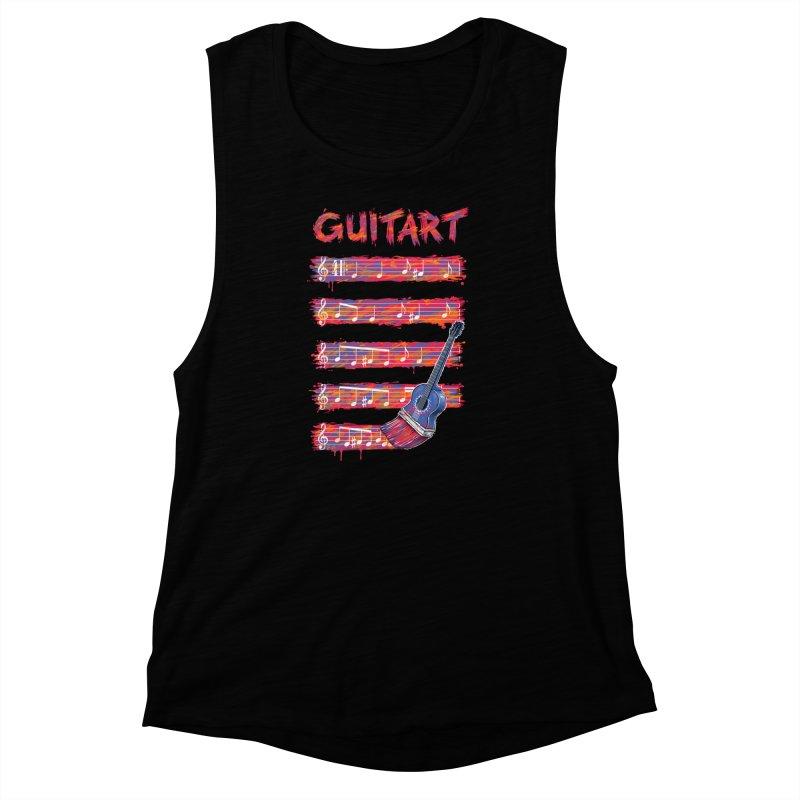 GuitArt Women's Muscle Tank by c0y0te7's Artist Shop