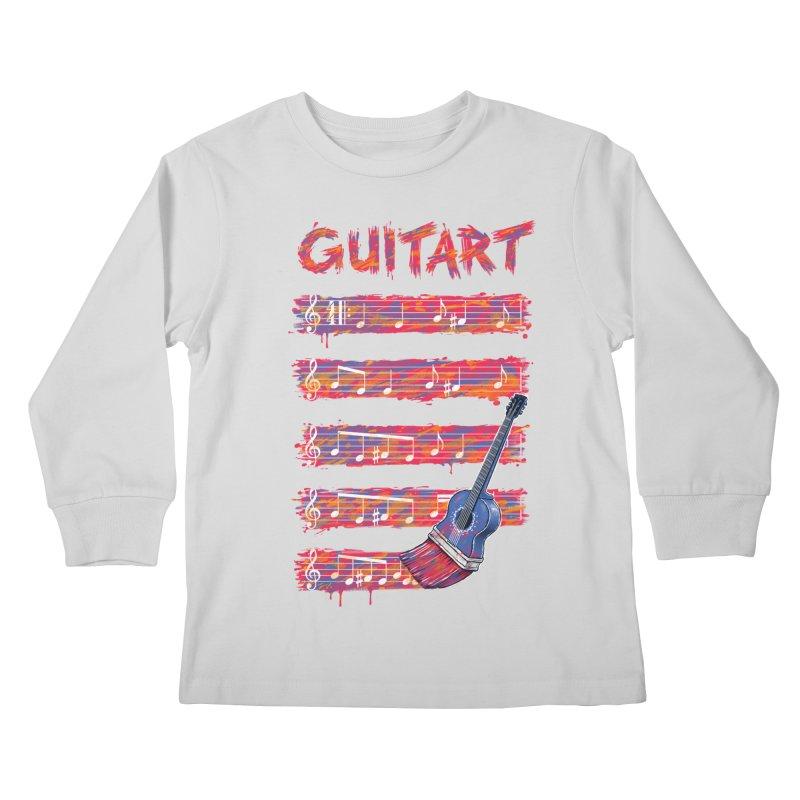 GuitArt Kids Longsleeve T-Shirt by c0y0te7's Artist Shop