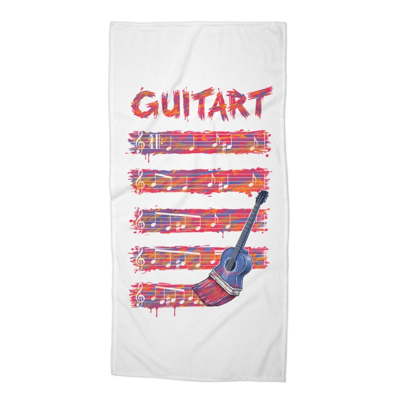 GuitArt Accessories Beach Towel by c0y0te7's Artist Shop