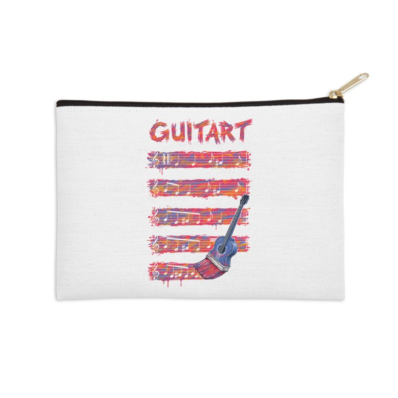 GuitArt Accessories Zip Pouch by c0y0te7's Artist Shop