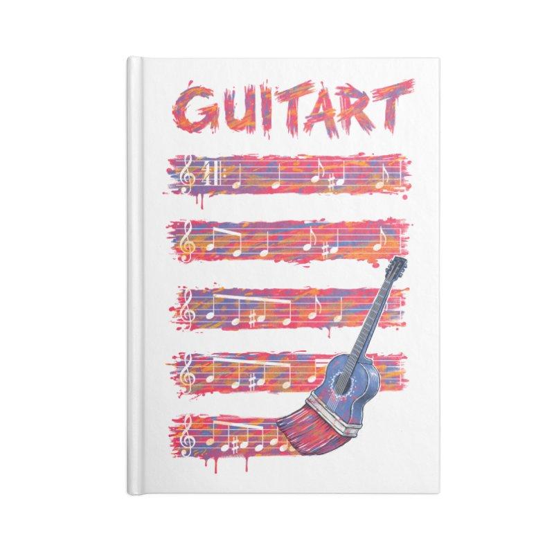 GuitArt Accessories Notebook by c0y0te7's Artist Shop