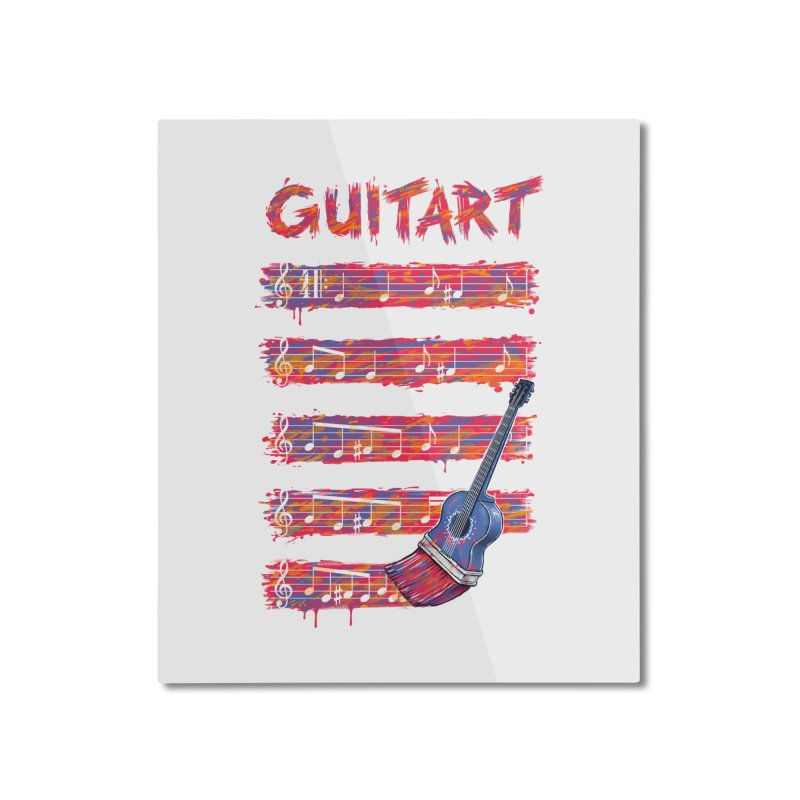 GuitArt Home Mounted Aluminum Print by c0y0te7's Artist Shop