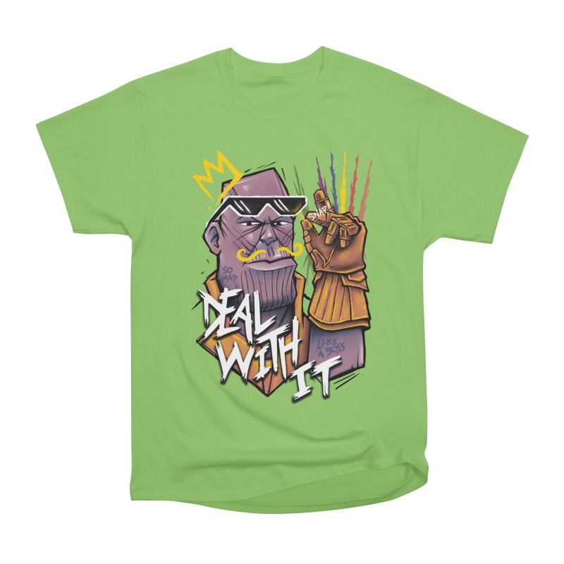 Thanos Deal With It Men's Heavyweight T-Shirt by c0y0te7's Artist Shop