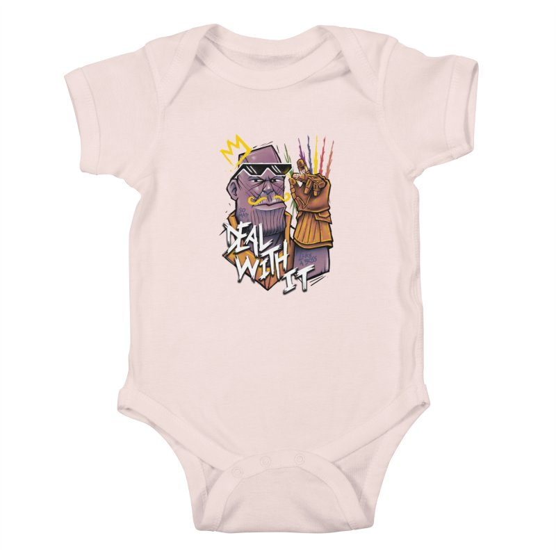 Thanos Deal With It Kids Baby Bodysuit by c0y0te7's Artist Shop