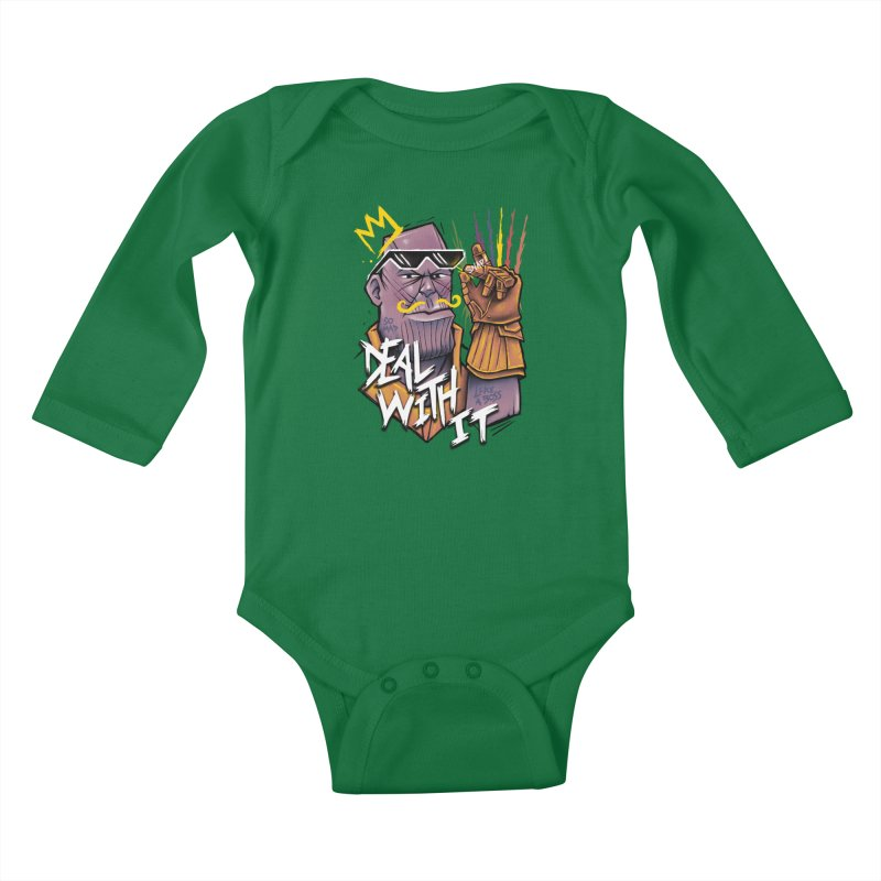 Thanos Deal With It Kids Baby Longsleeve Bodysuit by c0y0te7's Artist Shop