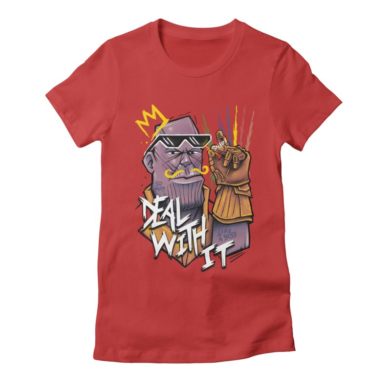 Thanos Deal With It Women's Fitted T-Shirt by c0y0te7's Artist Shop