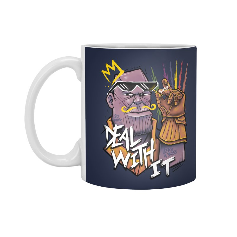 Thanos Deal With It Accessories Mug by c0y0te7's Artist Shop