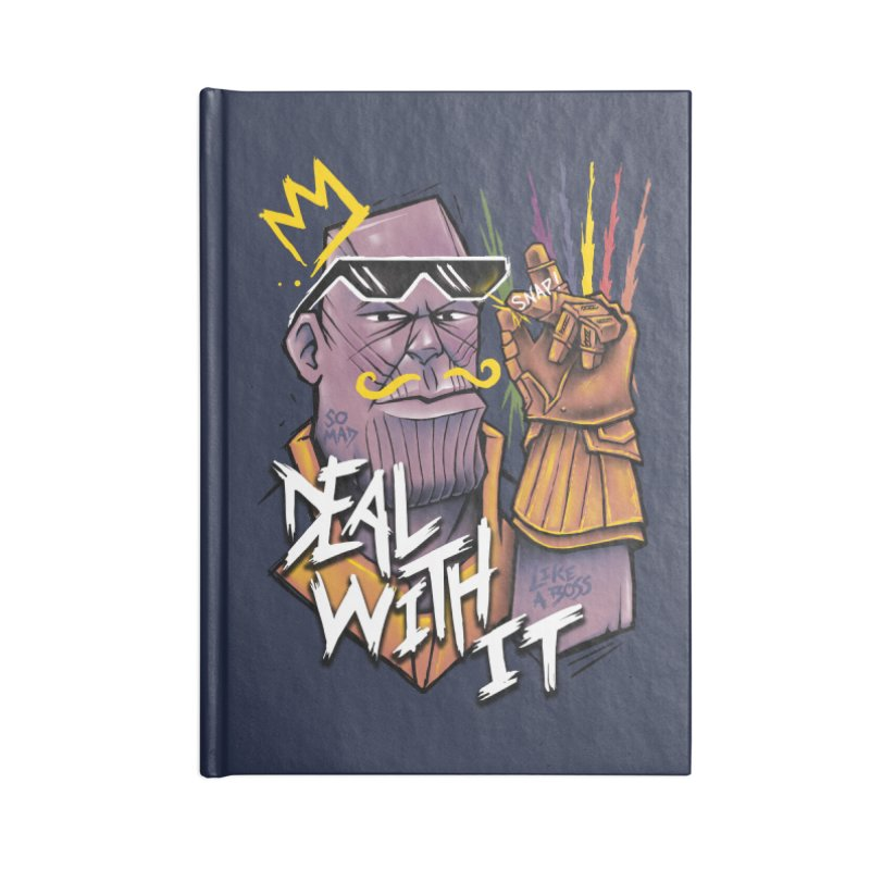 Thanos Deal With It Accessories Notebook by c0y0te7's Artist Shop