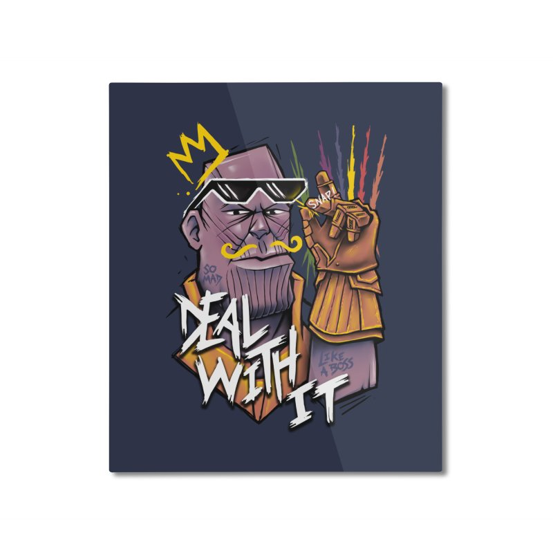 Thanos Deal With It Home Mounted Aluminum Print by c0y0te7's Artist Shop