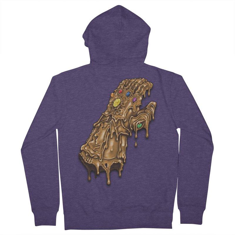 Melted Infinity Gauntlet Men's Zip-Up Hoody by c0y0te7's Artist Shop