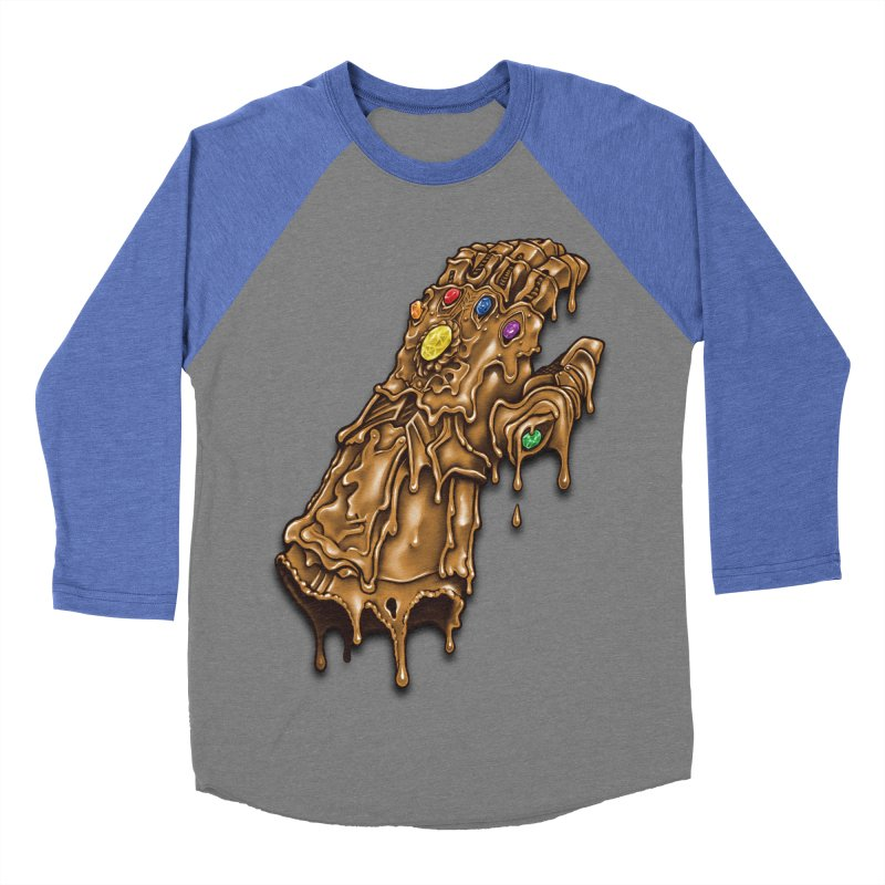 Melted Infinity Gauntlet Women's Baseball Triblend T-Shirt by c0y0te7's Artist Shop