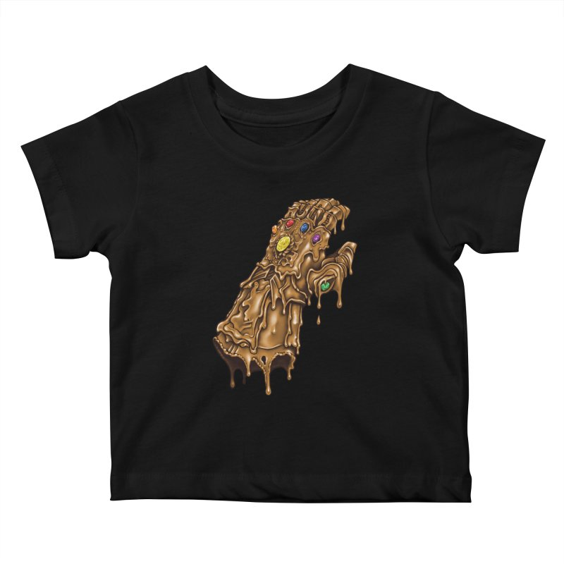 Melted Infinity Gauntlet Kids Baby T-Shirt by c0y0te7's Artist Shop