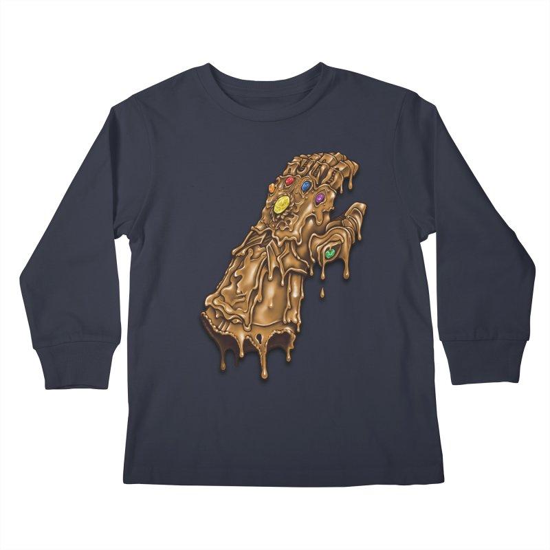 Melted Infinity Gauntlet Kids Longsleeve T-Shirt by c0y0te7's Artist Shop