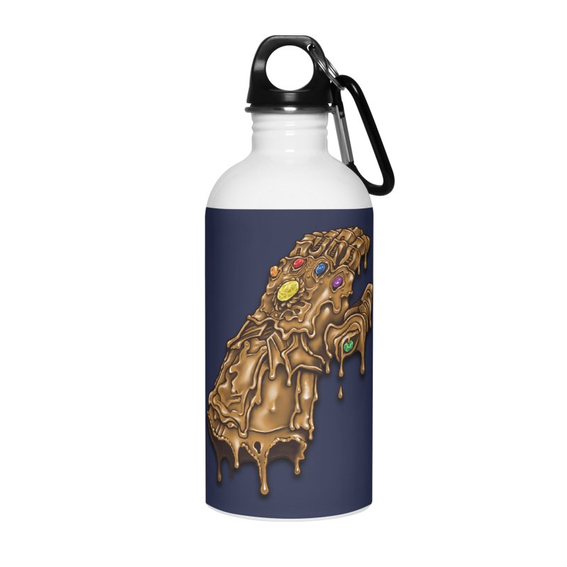 Melted Infinity Gauntlet Accessories Water Bottle by c0y0te7's Artist Shop