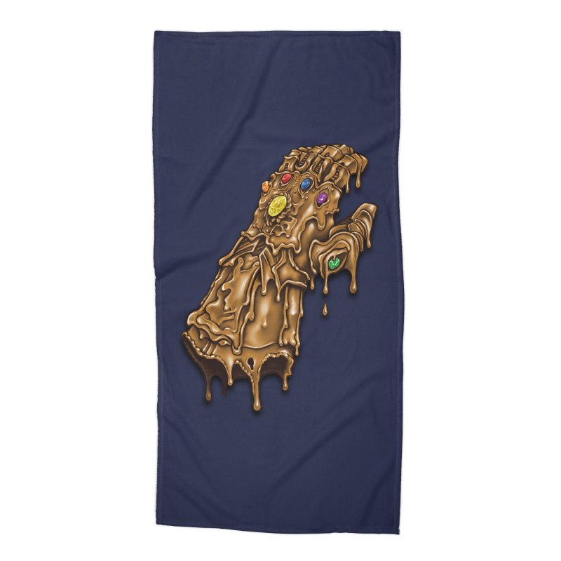 Melted Infinity Gauntlet Accessories Beach Towel by c0y0te7's Artist Shop