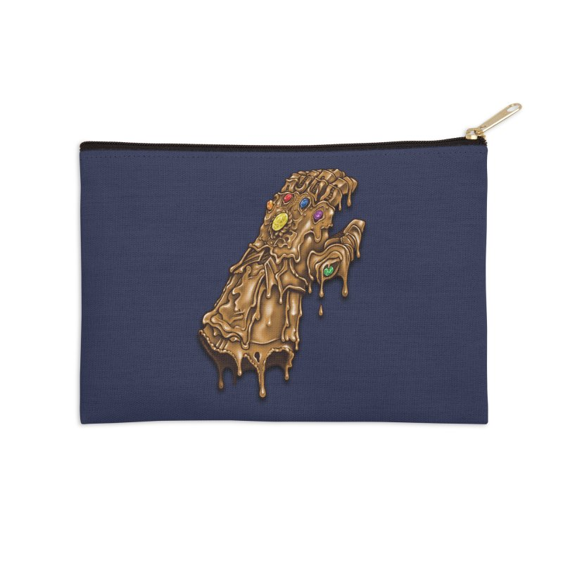 Melted Infinity Gauntlet Accessories Zip Pouch by c0y0te7's Artist Shop