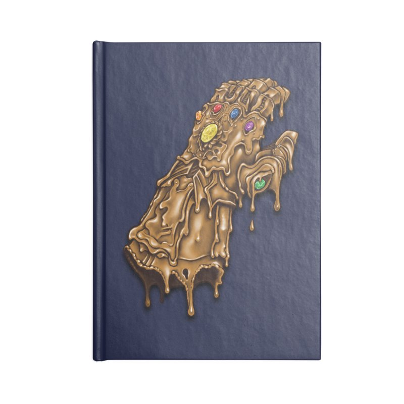 Melted Infinity Gauntlet Accessories Notebook by c0y0te7's Artist Shop