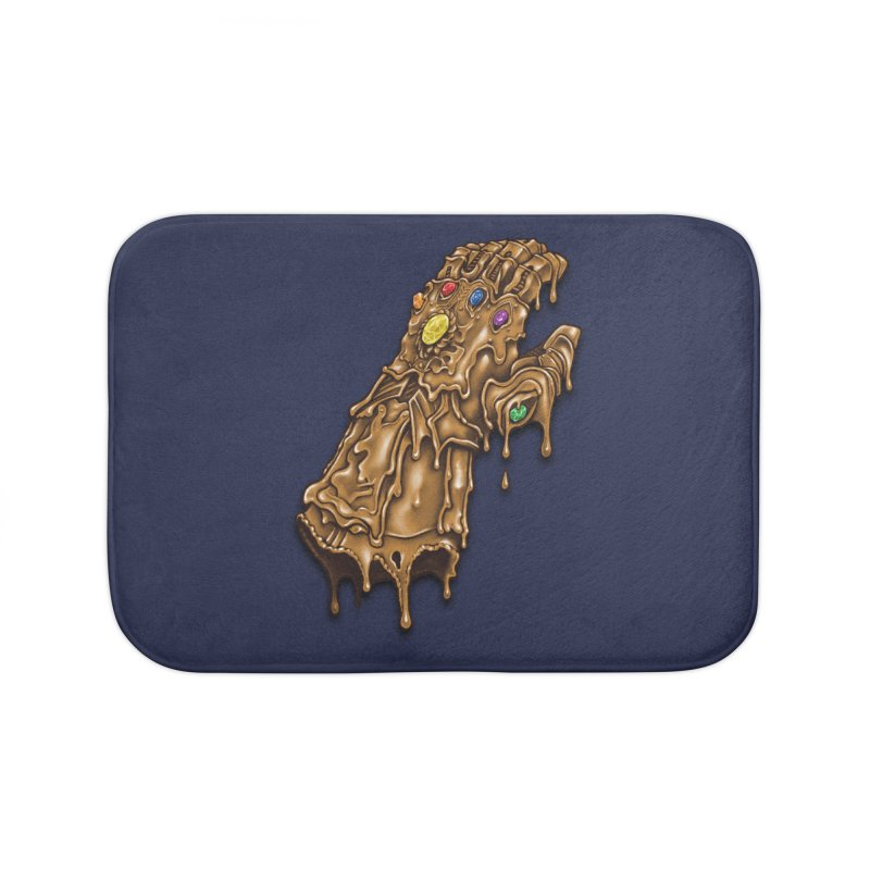 Melted Infinity Gauntlet Home Bath Mat by c0y0te7's Artist Shop