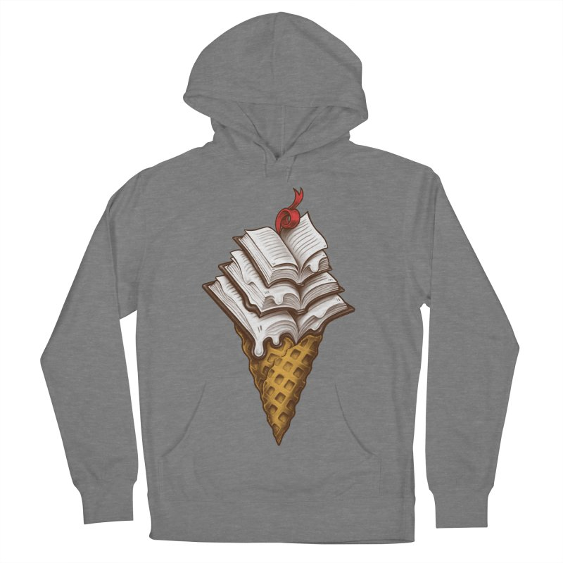 Ice Cream Books Men's French Terry Pullover Hoody by c0y0te7's Artist Shop