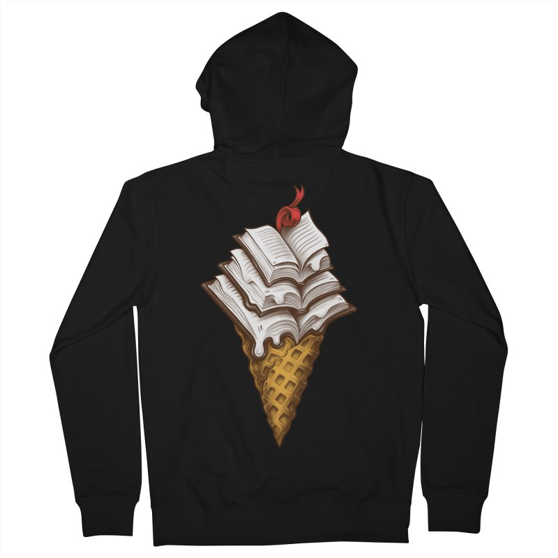 Ice Cream Books Men's French Terry Zip-Up Hoody by c0y0te7's Artist Shop