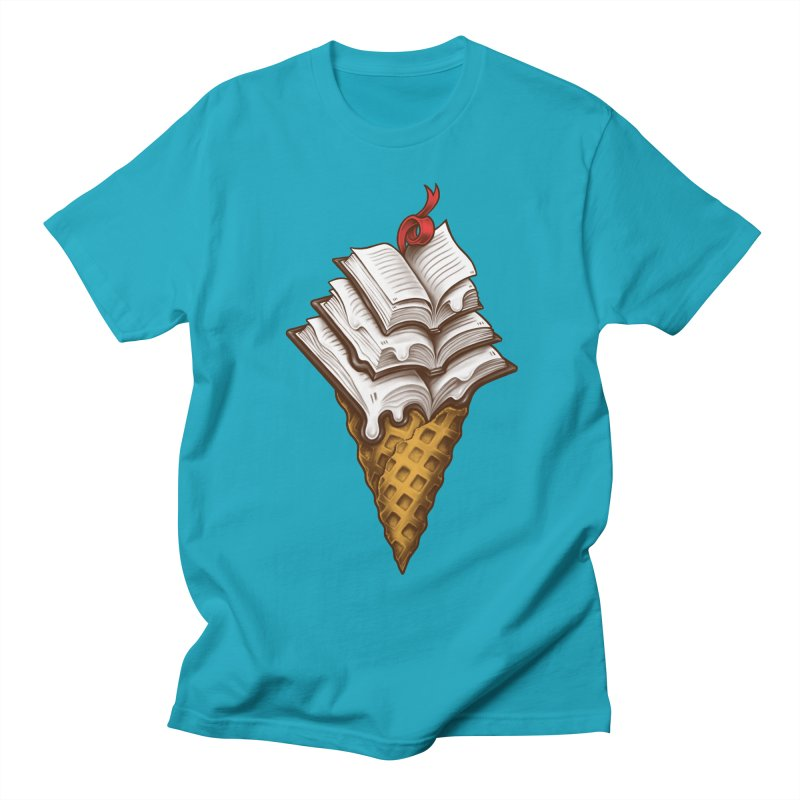 Ice Cream Books Women's Regular Unisex T-Shirt by c0y0te7's Artist Shop