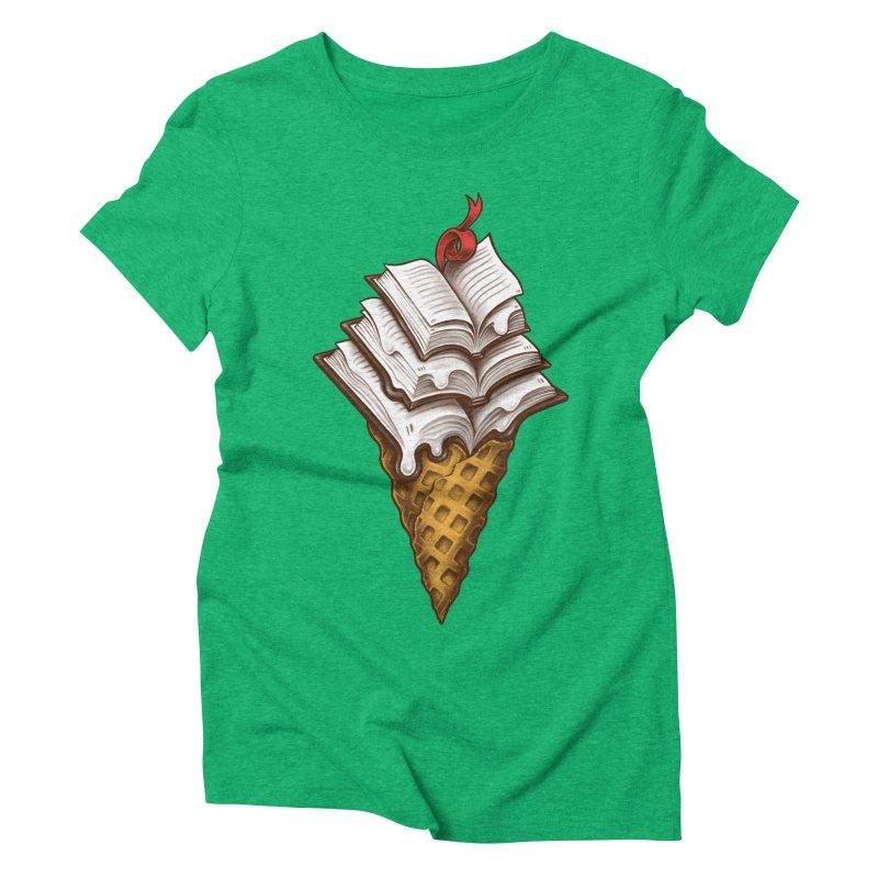 Ice Cream Books Women's Triblend T-Shirt by c0y0te7's Artist Shop