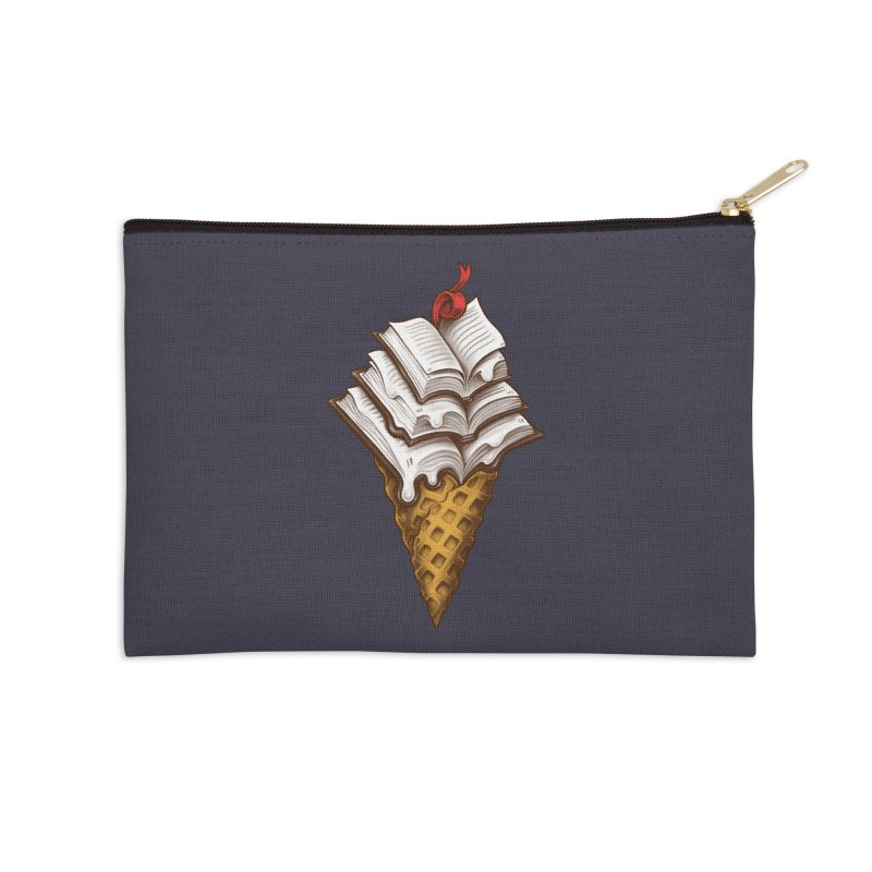 Ice Cream Books Accessories Zip Pouch by c0y0te7's Artist Shop