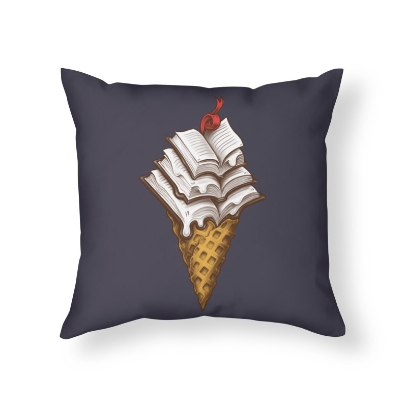 Ice Cream Books Home Throw Pillow by c0y0te7's Artist Shop